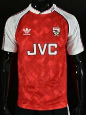 1990-92 adidas ARSENAL FC GUNNERS London Home Shirt Official REMAKE 2020 SIZE M