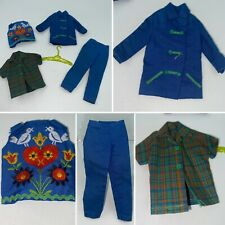 🌟Vintage 1965 Skipper Doll Fun Time 4 Piece Outfit #1920 Blue & Green Croquet