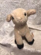 Vintage Miniature Wool Lamb