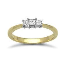 Princess Engagement Yellow Gold SI1 Fine Diamond Rings