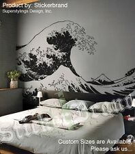 Vinyl Wall Decal Sticker Japanese Great Wave Hokusai LG 19.5 in H x 47.5 in W