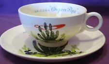 Vintage Blakely Gas & Oil Arizona Organ Pipe Cactus Stoneware Cup & Saucer