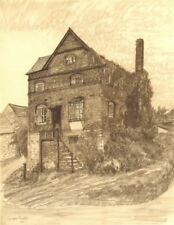 WIGMORE. A House. Herefordshire. By Louisa Puller 1948 old vintage print