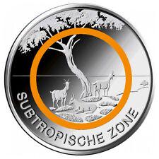 5 Euro Deutschland Subtropische Zone * J - Hamburg  * Klimazonen der Erde 2018