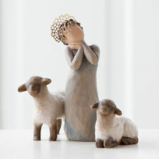 Willow Tree Little Shepherdess Nativity Figurines Christmas Demdaco Pieces Boxed
