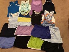 16 pc lot Nike Adidas Running Tennis Workout skirt skort top shirt womens S Smal