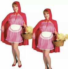 Womens Little Red Riding Hood Fancy Dress Costume Fairy Tale (10-14) Sexy Outfit