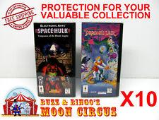 10x PANASONIC 3DO CIB SNAPBACK GAME BOX - CLEAR PROTECTIVE BOX PROTECTOR SLEEVE