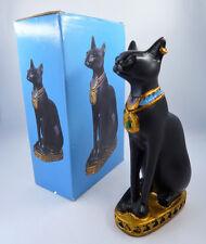 "Egyptian Cat Bast Bastet Goddess Statue Figurine 4"" Tall"