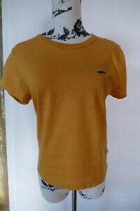 VANS T-Shirt in Senfgelb Gr. S mit Skateboard