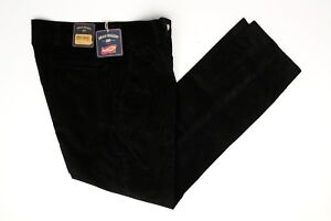 """Bills Khakis Mens Corduroy Pants 34x30 (36"""") Solid Black Cotton Parker Slim Fit"""