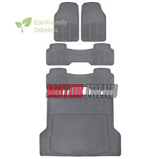 Motor Trend HD ECO All Weather Rubber Floor Mats w/ Cargo Trunk Liner - 5pc Gray