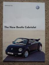 VW VOLKSWAGEN BEETLE CABRIOLET  BROCHURE 2004  jm
