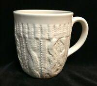 Maud Borup White Cableknit Sweater Coffee Mug