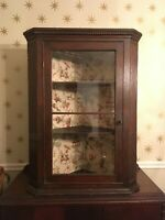 Antique Hanging Corner Cabinet or Cupboard Glass Front Local Pick Up Only 10527