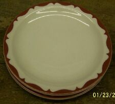 2 MAYER CHINA BREAD BUTTER Plates  RED RIM USA VINTAGE