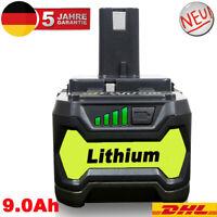 Für Ryobi Akku 18V 9 Ah Lithium ONE Plus P108 Batterie RB18L50 RB18L40 P104 P102