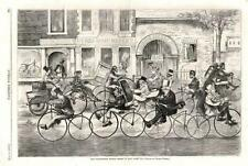 Velocipede Mania  -  What it may come to  -  Velocipede Riding School  -  1869