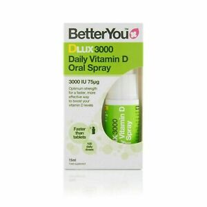 BetterYou DLux 3000iu Daily Vitamin D Oral Spray 15ml ( Free Delivery )