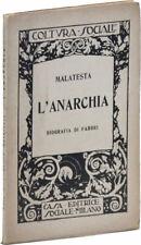 Errico Malatesta L'ANARCHIA - Settima Edizione, Milan 1921 - Luigi Fabbri Intro