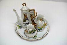Beatrix Potter Mrs. Rabbit Child's 6 Piece Porcelain Tea Play Set 2002 Toy