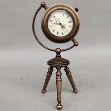 European Exquisite Brass Classical Mechanical  A-frame Clock OSB20