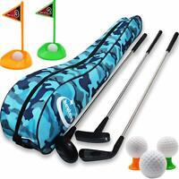 Kid's Toy Golf Clubs Set Deluxe Outdoor Golf Toy Set Toddler, Children