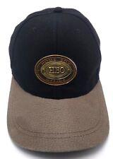 HBO HOME BOX OFFICE black / tan adjustable cap / hat - wool blend