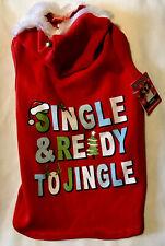 Single Ready to Jingle Dog Christmas Hoodie Apparel Simply Sweater Large L