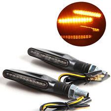 Universal Motorcycle Amber LED Turn Signal Indicators Light Lamp UM Bike