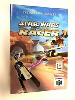 Star Wars Racer Authentic Manual Only NINTENDO 64 Booklet Book ORIGINAL