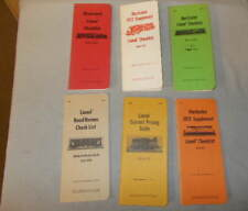 Lionel Trains Ladd Checklists,Price Guides,Illustrated Supplements 6 Total L@K!