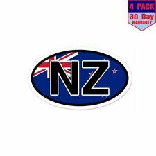 NZ New Zealand Flag 4 Stickers 3x5 Inch Sticker Decal