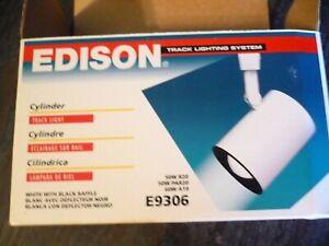 Edison Cylinder Track Light, White, E9306, New
