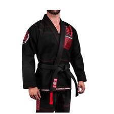 Jiujitsu Uniform Hayabusa Goorudo3 Gold Weave BJJ GI Brazilian Genuine Black