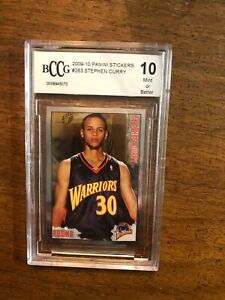 2009 Panini Sticker Basketball Stephen Curry ROOKIE RC #263 BCCG 10