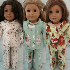 """18"""" Doll Christmas Pajamas fits 18 inch American Girl Doll Clothes c407abc"""