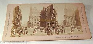 Vue STEREO Mexicain : Randolph Street, Chicago, USA - Circa 1900 - Vue animée