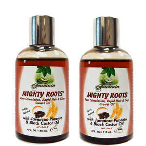 Fountain Mighty Roots With Jamaican Pimento Black Castor Oil 4 Fl Oz (Pack of 2)