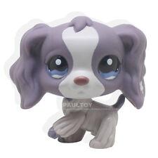 Rare Littlest Pet Shop Purple Cocker Spaniel Dog Puppy Blue Eyes LPS #1209 Toy