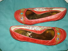 NINA DOLLS FAUX LEATHER SLIP-ON DRESS SHOES AUTH SZ. 8 M EUR 38 CUTE SUPER SALE!