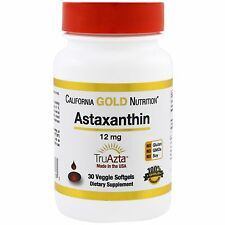 CALIFORNIA GOLD NUTRITION ASTAXANTHIN TRIPLE STRENGHT NATURAL NO GMOS CARE