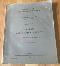 Ceylon Coins and Currency by HW Codrington - 1975 Reprint