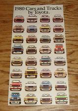 Original 1980 Toyota Car & Truck Full Line Sales Brochure 80 Supra Land Cruiser