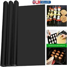 BBQ Grill Mat Non-Stick Oven Liners Teflon Cooking Barbecue Baking Sheet Tray UK