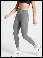 Athleta NWT Women's Ultimate Stash Pocket 7/8 Tight Size Med /Grey Heather