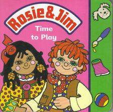 ROSIE & JIM TIME TO PLAY BOARD BOOK - 1995 1st Edn - RAGDOLL PRODUCTIONS - VGC