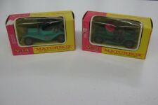 2-Vintage Matchbox Model Of Yesteryear Boxed 1911 Renault Y-2 & 1911 Maxwell Y14