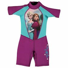 Disney Frozen Shorty Neoprene Wetsuit Infants Purple Swimsuit Beachwear Swimwear
