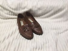 ETIENNE AIGNER TAN LOAFERS SIZE 9